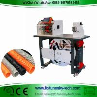 Buy cheap 110-220V 1500W English System Automatic Nylon Corrugated Tube Conduit Bellows Pipe Hose Cutter Machine product