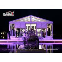 Buy cheap Transparent 20 x 25m A  Shape Marquee With Glass Walls For Temporary Wedding product