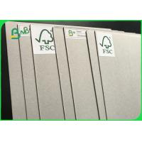 Buy cheap Anti - Curl Grey Paper Board / Laminated Grey Board With FSC Reporting product