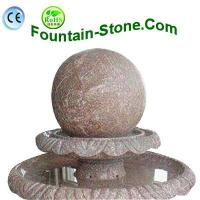 China Polished 2 Tiered Red Marble Sphere Fountain With Bowls Exporter on sale