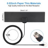 Quality Amplifier Indoor Digital TV Antenna , Indoor Television Aerials F Male Connectors for sale