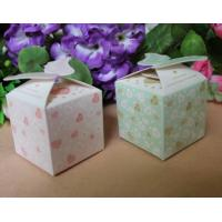 Buy cheap Food Disposable Paper Box Packaging /  Bio - Degradable Corrugated Box For Candy product