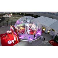 Buy cheap Clear Waterproof Geo Shelter Dome Tent , Transparent Party Half Dome Tent Geodome Tent from Wholesalers