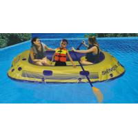 Buy cheap Portable 3 Person 0.45mm PVC Inflatable Boat With Paddle On Lake product