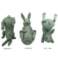 Set of 3 Home Decoration Polyresin Rabbit Figurine (1102001)