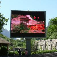 Buy cheap 3.8V/40A High Brightness Led Outdoor Advertising Screens 9.1W Energy Saving Conservation P10 product