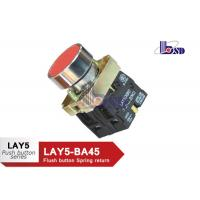 Buy cheap Red Color Push Button Switch Spring Return Flat Button LAY5(XB2)-BA45 product