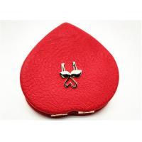 Buy cheap Foldable Heart Shape Pocket Cosmetic Mirror For Hair Accessory product