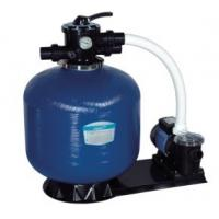 China Swimming Pool Top Mount Plastic Body + Fiberglass Outer Sand Filters + Pump Set on sale