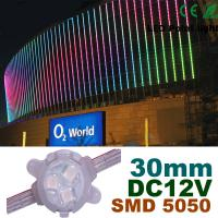Buy cheap 30mm DC12V RGB LED Pixel Module Full Color For Building Decoration product