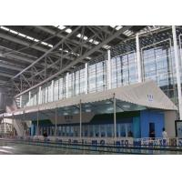 Buy cheap Double Coated PVC Fabric White Canopy Tent Waterproof 100km/H For Canton Fair product