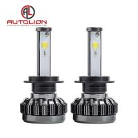 Buy cheap Pure Aluminum LED Car Headlight , h1 h3 h4 h7 H8 H9 h11 LED Headlamp Color Changeable product