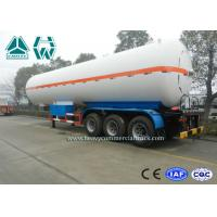 Buy cheap White Color LPG Semi Trailer , Propane Transport Trailers With Tri Axle product