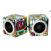 Square Active Battery Powered Portable Speakers Creative With Folding Paper