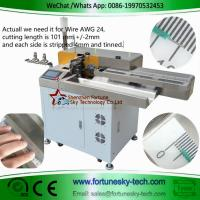 Buy cheap High Accuracy English System fully automatic wire cut strip twist both-ends dip soldering machine product