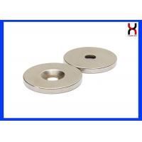 China NdFeB countersunk  rare earth magnet neodymium magnet with one hole or two holes on sale