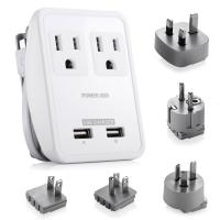 Buy cheap Dual USB Ports Outdoor Leisure Products , 5 Plugs 2 Outlet Travel Adapter from Wholesalers