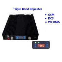 Buy cheap GSM DCS WCDMA Band Mobile Signal Repeater 27dBm Coverage 3000sqm 75dB Gain product
