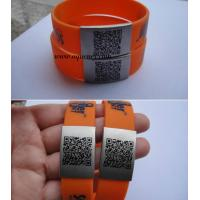 China Buy Custom color Silicone Sport Medical Alert ID Bracelet with engrave words on sale