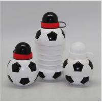 Buy cheap 450ML Foodball&soccer Collapsible Foldable water bottle,BPA free soccer plastic sports water bottles product