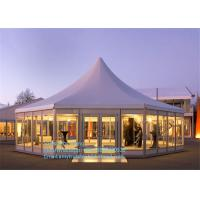 Buy cheap Luxury Glass Mixed Aluminum Tent Party Marquee In Guangzhou For Sale With Colorful Decoration from Wholesalers