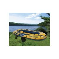 China Manual Ferry Barge / Rubber Boat With Canoe Oars For Three People on sale