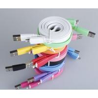 Buy cheap flat colorful lightning data charger sync cable for iphone 5 product