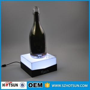Custom acrylic e liquid display stand LED e liquid bottle rack