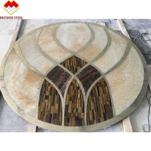 Buy cheap Custom Mosaic Floor Water Jet Medallion Natural Wall Decoration Marble product
