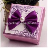 Buy cheap fabric covered wedding invitation boxes/ wedding favor boxes product