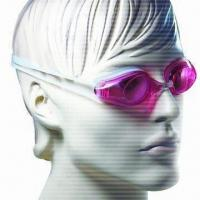 Buy cheap Anti-fog Swimming Goggles with Replaceable Nosebridge and 100% Silicone Strap product