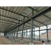 China Fire Resistance Steel Structure Workshop With Grey Or Blue Color Steel Claddings on sale