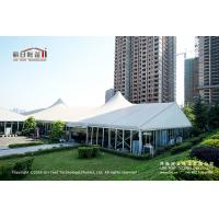 Buy cheap 500 People Outdoor High Peak Tents With Hard Glass Wall for Auto Show from wholesalers