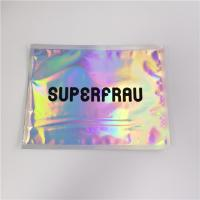 Buy cheap Laser Holographic Film Grip Seal Bags Zip Lock Customized Logo For Cosmetics product