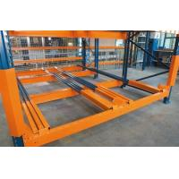 Buy cheap Warehouse steel rack push back pallet racking from wholesalers