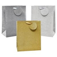 Buy cheap Custom Personalized Glitter Gift Bags / Luxury Cosmetic Packaging Bags product