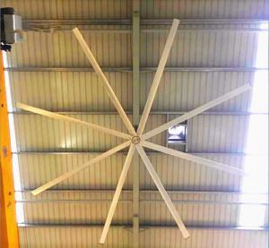 AWF5 HVLS Ceiling Fans 128kg 8pcs Blades Big Ceiling Fans For Warehouse