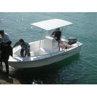 Buy cheap 6 M Fiberglass Hull Pontoon Fishing Boats , 6 Person Inflatable Boat With Center Console product