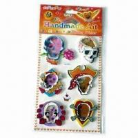 Buy cheap EVA Stickers, Exquisite Design, Tiny Beads Inside and 4 Colors Printing product