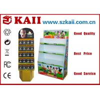 Buy cheap Cosmetics Yellow Corrugated Display Stand / Cardboard Display Stand / Racks / from wholesalers