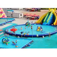 Buy cheap UV Resistance Commercial Inflatable Water Parks With Swimming Pool product