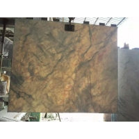 Buy cheap Yabo White Marble Stone Slab Translucent Grey Cloud 1.5cm Thick product