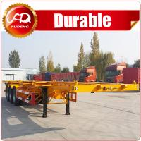 Buy cheap 3axle 40ft skeleton semi trailer  Container chassis , 3 axle 40FT container skeleton semi trailer for sale product