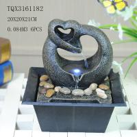 Buy cheap Free Standing Polyresin Water Fountain Heart Shaped Battery Powered For Home Decor product