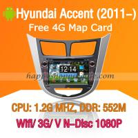 Hyundai Accent Android Radio DVD Navi with Digital TV 3G Wifi