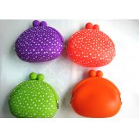 Buy cheap Best selling polka dot custom coin pouch silicone promotional gift for youth OEM product