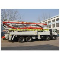 China Concrete Pump Trailer 48m boom with HOWO chassis and ISO / BV on sale