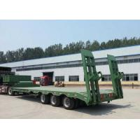 Buy cheap Low-bed Semi Trailer Truck 3 Axles 60Tons 15m for Loading construction machine product