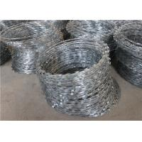 Buy cheap 900mm Coil Hot Dipped Galvanized Razor Barbed Wire Mesh , Concertina Razor Wire product