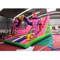 China Pink Lovely Children'S Blow Up Water Slide Waterproof For Inground Pool on sale